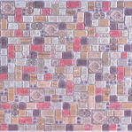 Mosaic Cinnamone Travertine